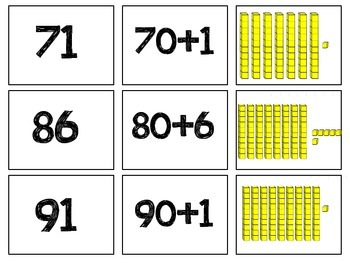 Place Value Match- Standard Form, Expanded Form, and Pictorial Model
