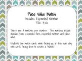 Place Value Match TEK 3.2A