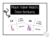 Place Value Match: Teen Numbers