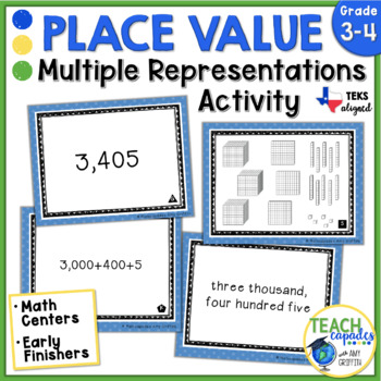 Place Value Match Up ~ Aligned with new Texas Math TEKs 3.2A & 3.2B