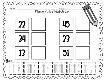 Place Value Match Up Cards 2