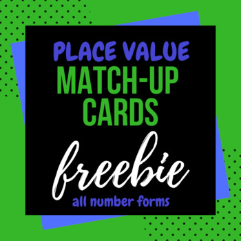 Place Value Match-Up Cards to the thousandths place freebie