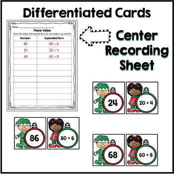 Differentiated Place Value Center {Christmas Edition}