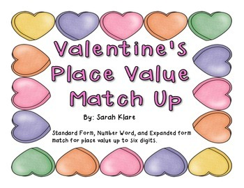 Place Value Match Up {Valentine's Edition}