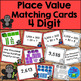 Place Value Matching Activity - 3, 4, and 5 Digit Sets