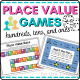 Place Value Matching Cards: Base-Ten Blocks and Standard Form Numbers (1 of 2)