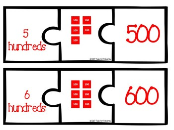 Place Value Matching Cards Featuring The Stamp Game