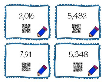 QR Centers: Place Value Matching Cards