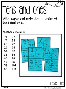 Place Value Matching Center