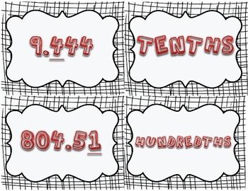Place Value Matching: Decimals, and Whole Numbers (Common Core Aligned)