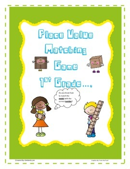 Place Value Matching Game-1st Grade