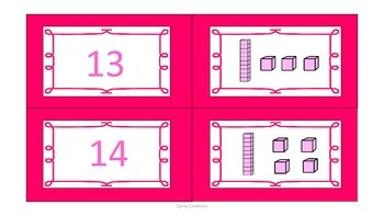 Place Value Matching Game (Numbers 1-20)
