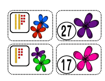Place Value Matching Game {Spring}