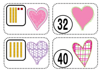 Place Value Matching Game {Valentine's Day}