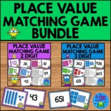 Place Value Matching Games Bundle - 2 and 3 Digit