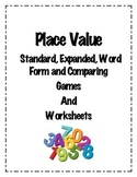 4.NBT.2: Place Value Games and Worksheets