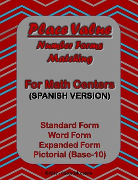 Place Value Matching! - Spanish Version
