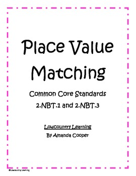 Place Value Matching - Standard, Expanded & Written Forms - 2.NBT.1 & 2.NBT.3
