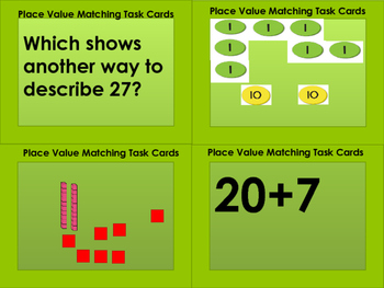 Place Value Matching Task Cards (76 Cards!!)