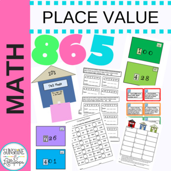 Place Value Worksheets, Sorts & Task Cards Aligned with CC