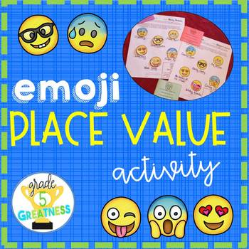 Place Value Math Activity with Emojis