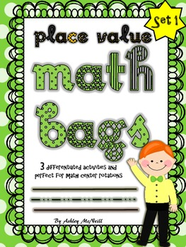Place Value Math Bags - Common Core Centers!!!