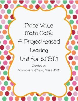 Place Value Math Cafe