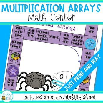 Multiplication Arrays Math Center