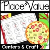 Place Value Math Center & Craft Pizza Theme