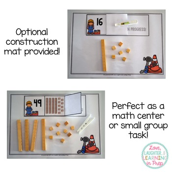 Place Value Math Center {Building Numbers 10-50}