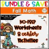 Fall Place Value Bundle, Center Activities