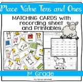 Addition and Subtraction Tens and Ones Center and Worksheets