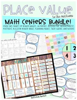 Place Value Math Centers Bundle