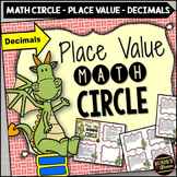 Place Value Math Circle Decimals