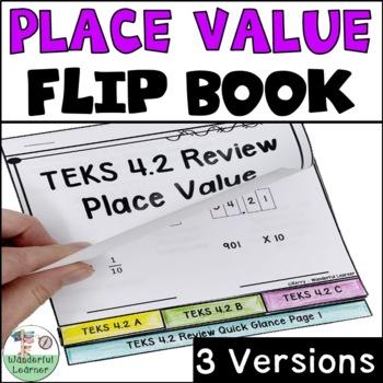 Place Value Math Flipbook Review TEKS 4.2