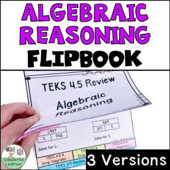 Algebraic Reasoning Math Flipbook Review TEKS 4.5
