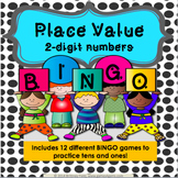 1st Grade Place Value Games: Math Bingo for Place Value Tens and Ones {1.NBT.2}