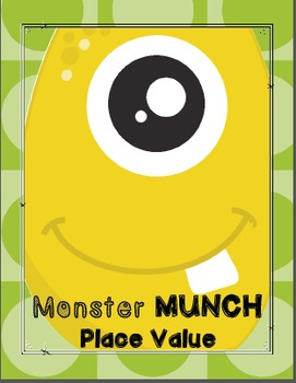 Place Value Math Games! Monster Munch Board Game Package!