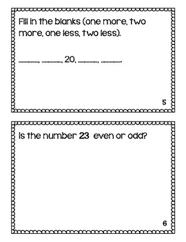 Beginner Place Value Math Journals