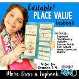 Place Value {EDITABLE} Math Lapbook & MORE
