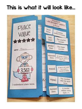 Place Value Lapbook {EDITABLE} Place Value Activities & MORE