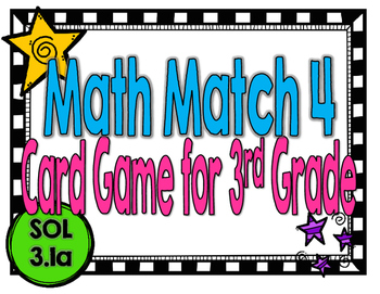 Place Value Math Match 4-A Game for SOL 3.1a