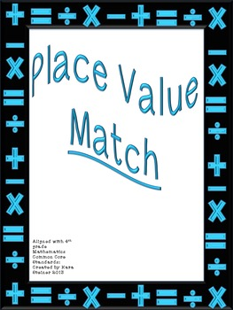 Place Value Math Matching Cards