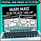 Place Value Math Mats Printable and Digital for Google Sli