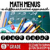 Place Value Math Menu: 5th Grade