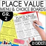 Place Value Enrichment Activities | Math Menu | Choice Boa