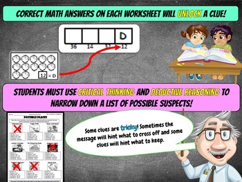 1st Grade Place Value Review Math Mystery: Tens and Ones Only