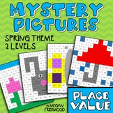 Place Value Math Mystery Pictures {100 Chart} *DIFFERENTIATED* Spring Version