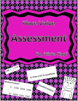 Place Value Math Quiz