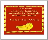 Place Value Math Smartboard Lesson thru the Hundred Thousands